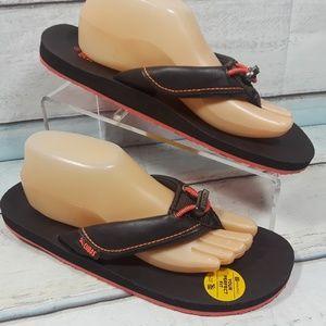 Cudas Women's Brown Thong Flat Sandals Size 11